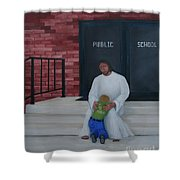 They Won't Let Me In Either. Shower Curtain by Timothy Smith