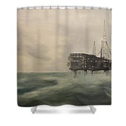Thistle Alpha-north Sea Shower Curtain by Douglas Ann Slusher