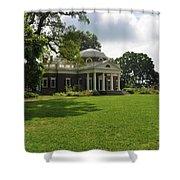 Thomas Jefferson's Monticello Shower Curtain by Bill Cannon