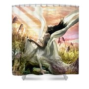 Thorn Shower Curtain by Mo T