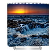 Thor's Well Shower Curtain by Rick Berk