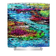 Thought Upon A Stream Shower Curtain by David Lane