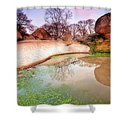 Thracian Sanctuary Shower Curtain by Evgeni Dinev