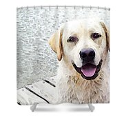 Three Friends Shower Curtain by Sharon Cummings