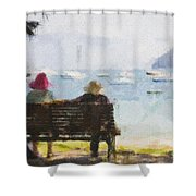 Three Ladies Shower Curtain by Avalon Fine Art Photography