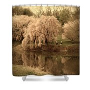 Through The Years - Holmdel Park Shower Curtain by Angie Tirado