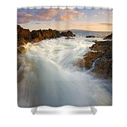 Tidal Surge Shower Curtain by Mike  Dawson