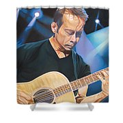 Tim Reynolds And Lights Shower Curtain by Joshua Morton