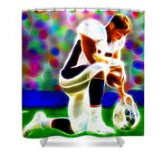 Tim Tebow Magical Tebowing 2 Shower Curtain by Paul Van Scott