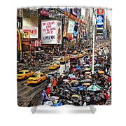 Times Square 1 Shower Curtain by Andrew Fare