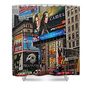 Times Square 4 Shower Curtain by Andrew Fare