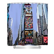 Times Square Nyc Shower Curtain by Kelley King