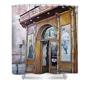 Tirso De Molina Old Tavern Shower Curtain by Tomas Castano