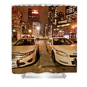 To Serve And Protect Shower Curtain by Evelina Kremsdorf