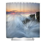 Too Close For Comfort Shower Curtain by Mike  Dawson