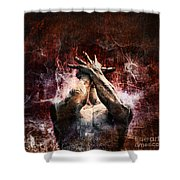 Torment Shower Curtain by Andrew Paranavitana