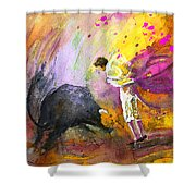 Toroscape 54 Shower Curtain by Miki De Goodaboom