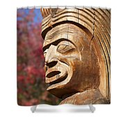 Totem I Shower Curtain by Chris Dutton