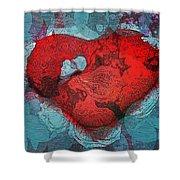Tough Love Shower Curtain by Linda Sannuti