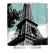 Tour Eiffel Shower Curtain by Juergen Weiss