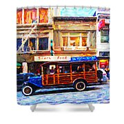 Touring The Streets of San Francisco . Photo Artwork Shower Curtain by Wingsdomain Art and Photography