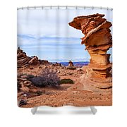 Towerscape Shower Curtain by Chad Dutson