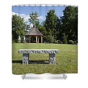Town Park In Bartlett New Hampshire Usa Shower Curtain by Erin Paul Donovan