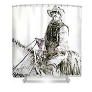 Trail Boss Shower Curtain by Seth Weaver