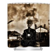 Train Coming In The Station Shower Curtain by Bill Cannon