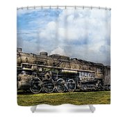 Train - Engine - Nickel Plate Road Shower Curtain by Mike Savad