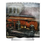 Train - Yard - The Train Yard II Shower Curtain by Mike Savad