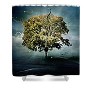 Tree Of Hope Shower Curtain by Mary Hood