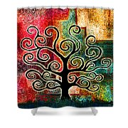 Tree Of Life Shower Curtain by Jaison Cianelli