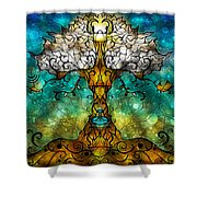 Tree Of Life Shower Curtain by Mandie Manzano