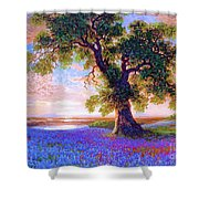 Tree Of Tranquillity Shower Curtain by Jane Small