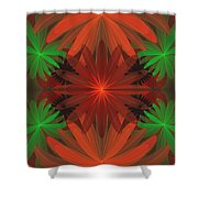 Tropical Flowers Shower Curtain by Sandy Keeton