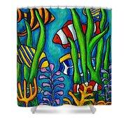 Tropical Gems Shower Curtain by Lisa  Lorenz