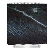 Tsunami Shower Curtain by Angel Ortiz