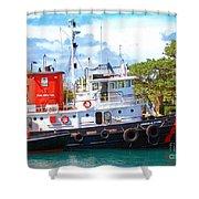 Tug On It Shower Curtain by Debbi Granruth