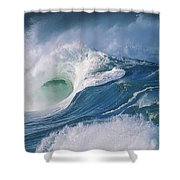 Turbulent Shorebreak Shower Curtain by Vince Cavataio - Printscapes