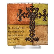Tuscan Cross Shower Curtain by Debbie DeWitt