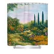 Tuscany Atmosphere Shower Curtain by Hannibal Mane