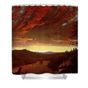 Twilight In The Wilderness Shower Curtain by Frederic Edwin Church