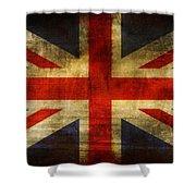 Uk Flag Shower Curtain by Brett Pfister