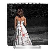 Ukrainian Bride Shower Curtain by Evelina Kremsdorf