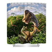 Ultrasaurus Shower Curtain by Jerry LoFaro