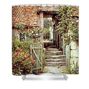 Under the Old Malthouse Hambledon Surrey Shower Curtain by Helen Allingham