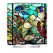 Under The Sea - Stained Glass Shower Curtain by Bill Cannon