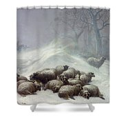 Under The Shelter Of The Shapeless Drift Shower Curtain by Thomas Sidney Cooper