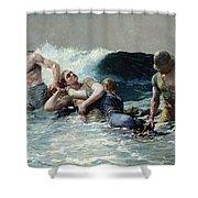 Undertow Shower Curtain by Winslow Homer